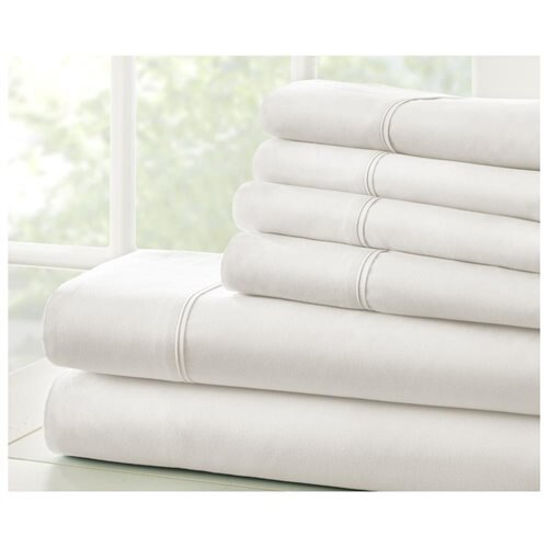 Home Collection Hypoallergenic Microfiber Bedsheet Set - 6pcs 1