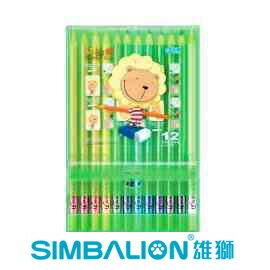 奶油獅12色膠盒色鉛筆
