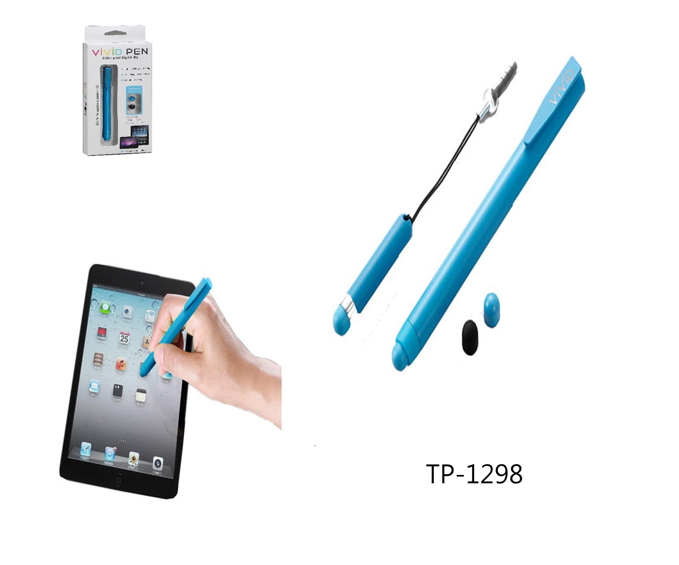 TP-1298 彩色滑溜觸控筆(可換筆頭)