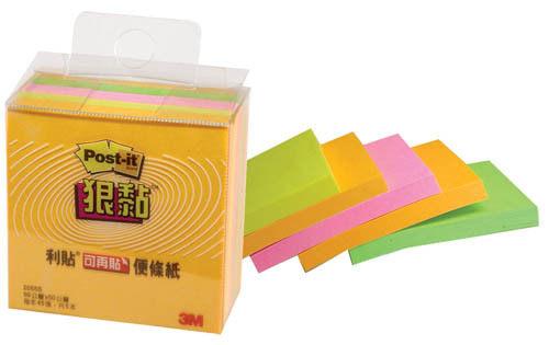 3M 2055S 狠黏利貼可再貼便條紙 /盒
