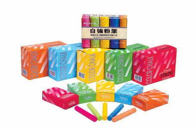 自強牌彩色粉筆40支/50盒/箱