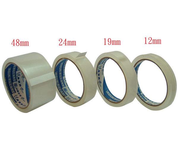 鹿頭牌 透明包裝膠帶18mm*40Y (384捲/箱)
