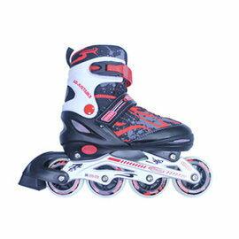成功 鋁合金伸縮溜冰鞋組-紅黑色(休閒教學專用)直排輪/健身運動(S0420) 附贈輕巧背袋