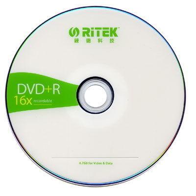錸德RITEK 16X DVD+R 空白光碟片、光碟片 (50片)