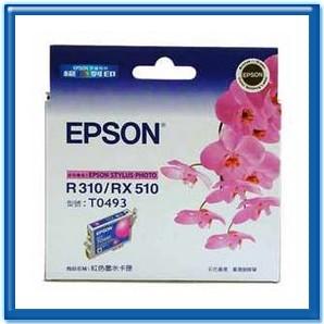 振詮文具房:EPSONT049350紅色原廠墨水匣