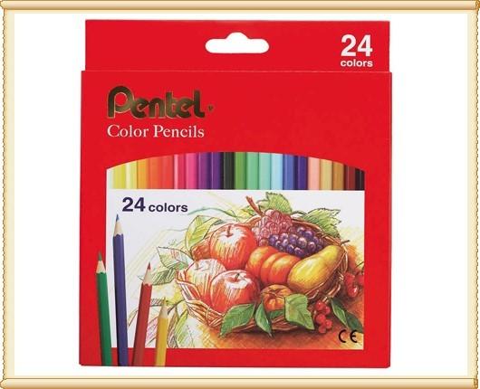 Pentel 飛龍 CB8-24T 色鉛筆24色 / 盒