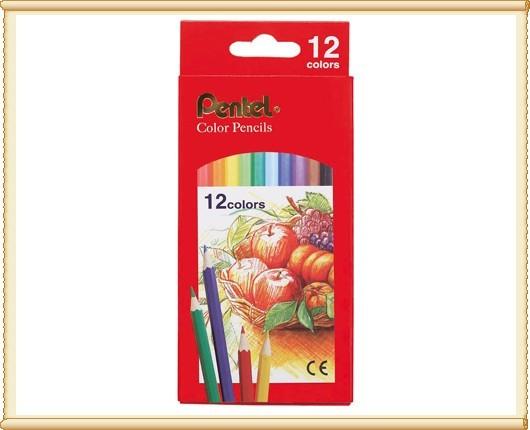 Pentel 飛龍 CB8-12T 色鉛筆12色 / 盒