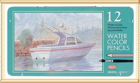 利百代 CC~857ZM 水彩色鉛筆12色  盒