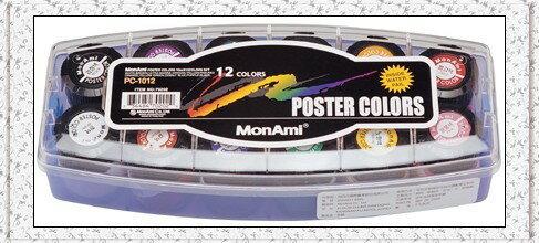 慕那美 MonAmi PC~1012 廣告顏料類~12色入   盒