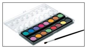 雄獅 粉餅水彩-16色入 / 盒
