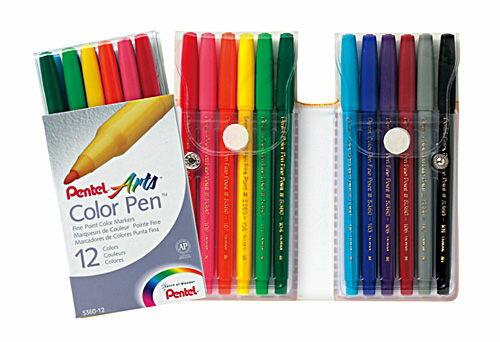 百點S360細字彩色筆12色組