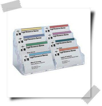 美國迪多70801 四層八格名片展示架