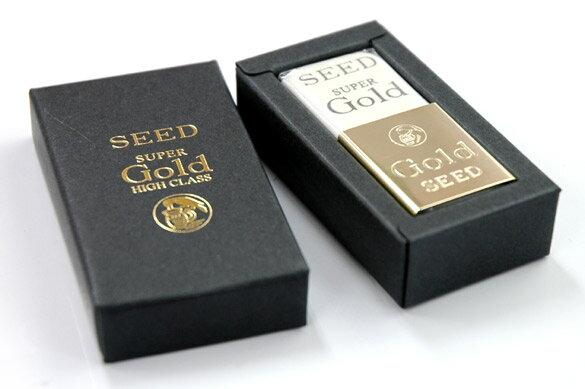 SEED日本高級天然橡皮擦GOLD金色握殼