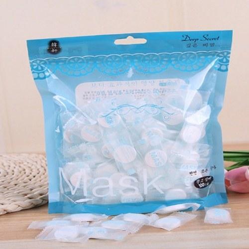 ~美妝美容~無紡棉質壓縮面膜 藍色包裝100入裝