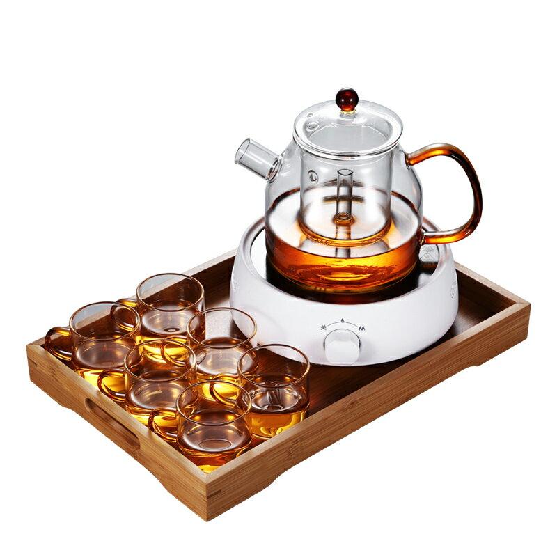 晟窯花茶壺玻璃泡水果茶杯套裝家用花茶杯煮茶器耐高溫加熱電陶爐