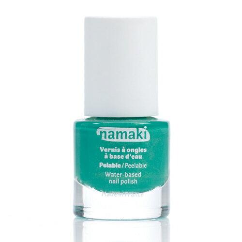 法國 namaki  幼兒專用可撕式水性指甲油 - 湖水綠