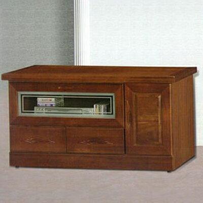 【尚品家具】868-04 胡桃色樟木半實木4尺電視櫃(另有7、6、5尺)