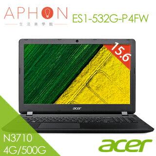 【Aphon生活美學館】ACER ES1-532G-P4FW 15.6吋 2G獨顯 筆電(N3710/4G/500G)-送acer無線鼠