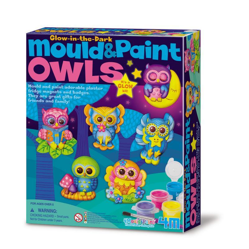 【4M】美勞創作系列-夜光貓頭鷹(製作磁鐵) M&P Glow Owls 00-04654