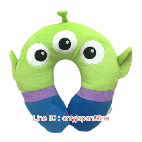 【真愛日本】17012600003造型頸枕-三眼怪  迪士尼 玩具總動員 TOY 頸枕 枕頭 靠枕 居家用品