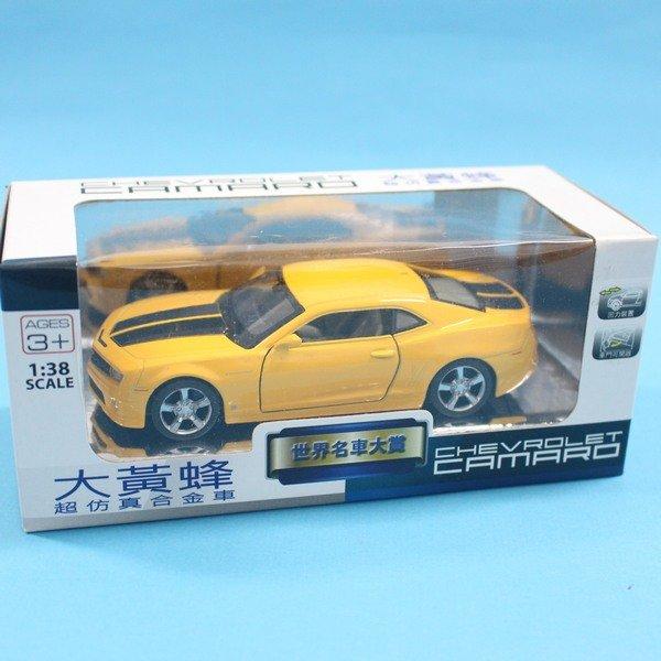 CHEVROLET CAMARO 大黃蜂 合金車 1:38 模型車 TOP306迴力車F0