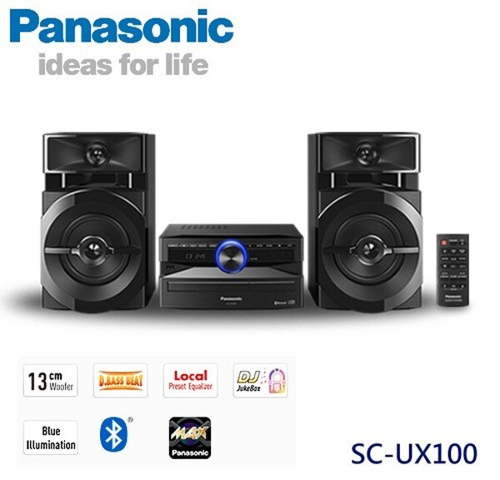 KABO佳麗寶家電批發:【佳麗寶】-(Panasonic國際牌)藍芽組合音響【SC-UX100】