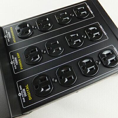 ※ 欣洋電子 ※ Castle 蓋世特 專業音響電腦電源淨化濾波轉接器 / 電源延長線 3孔(3P)12插座 (PLF-200) 2