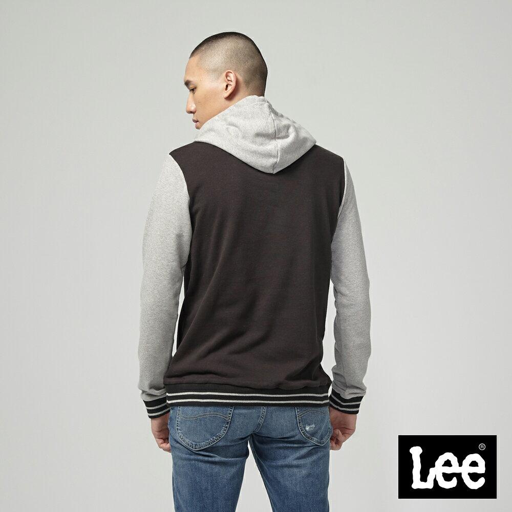 Lee 大LOGO長袖連帽TEE恤 / RG 2