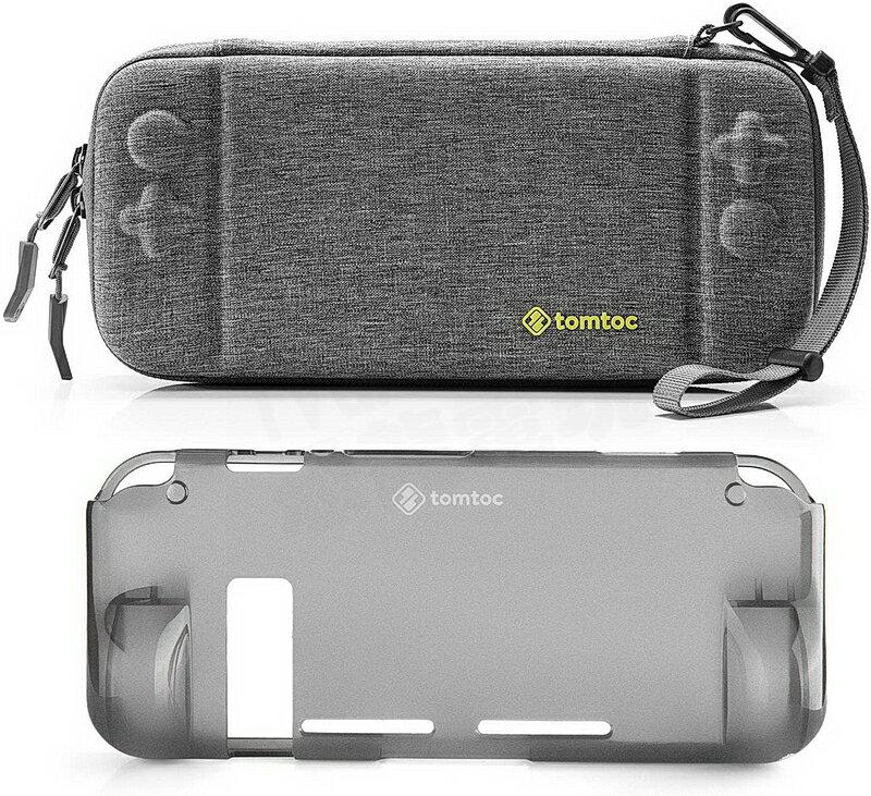 (超取免運) 任天堂 Switch NS 美國 Tomtoc 主機包 收納包 硬殼包 薄型加大 灰 附贈TPU保護殼
