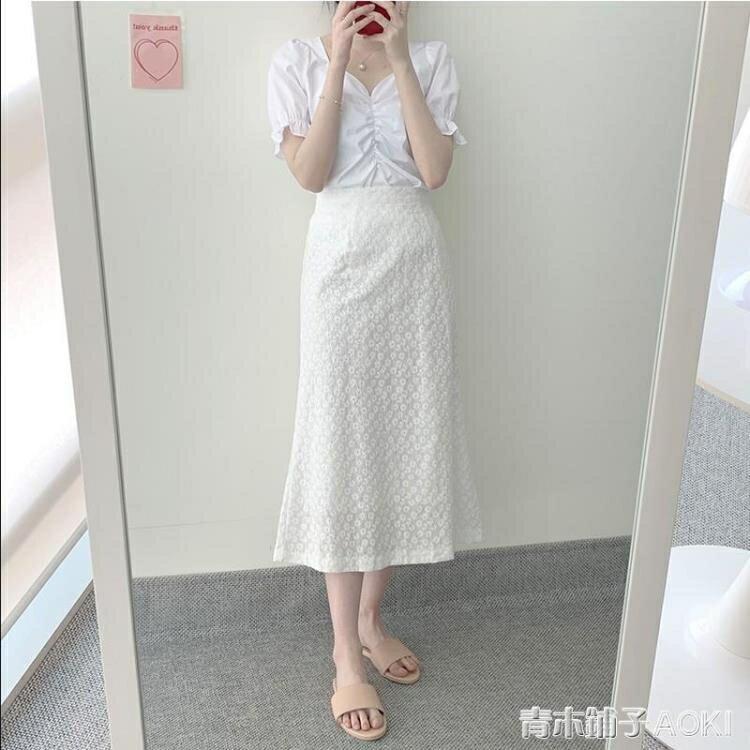 夏年新款女裝胖mm時尚顯瘦氣質半身洋裝子兩件套裝減齡洋氣