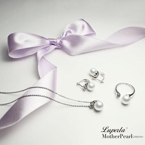 大東山珠寶 鑽石女伶 純銀晶鑽貝珠戒指 4