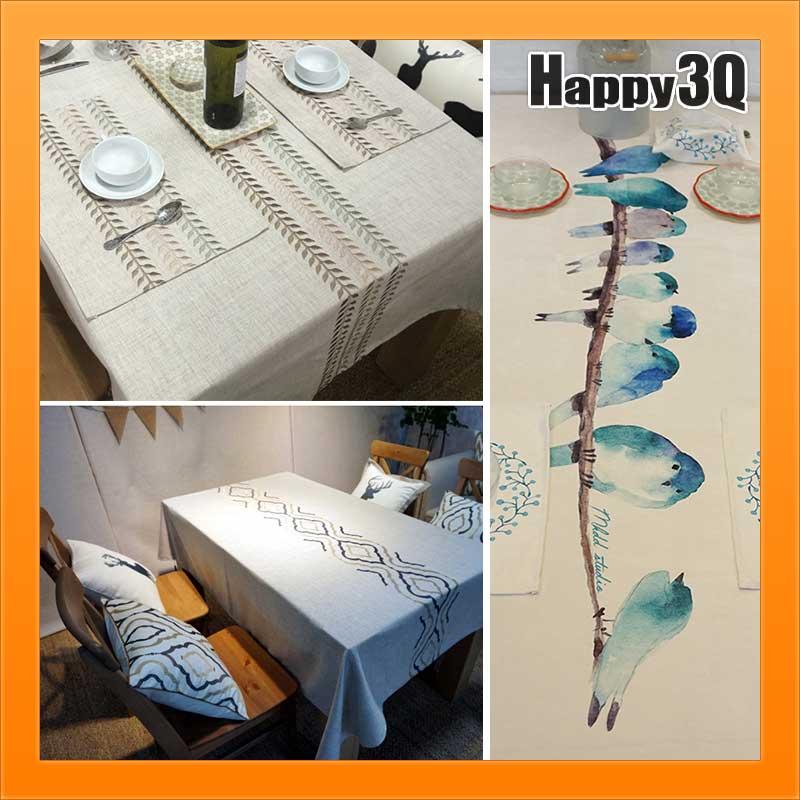 電視櫃布防塵布餐桌布極簡素色花紋風藍鳥北歐風民族風房間布置裝潢-多款【AAA3079】