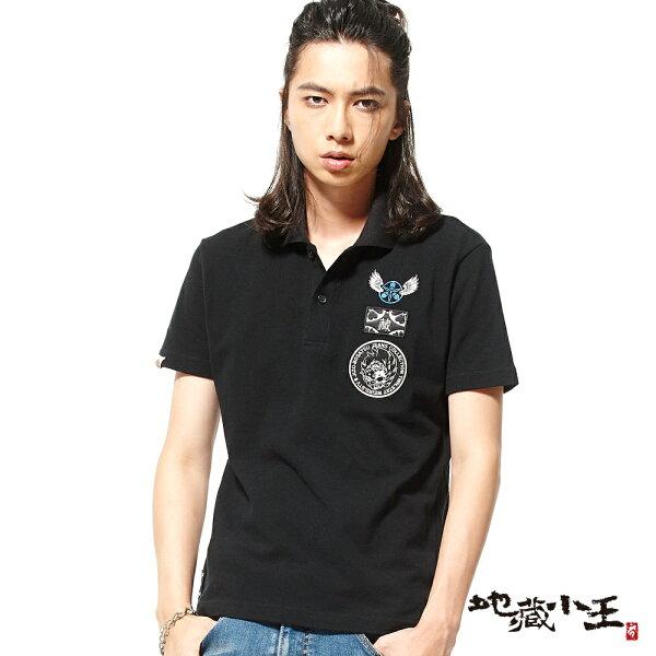 【春夏新品】自由創立短袖POLO衫(黑)-BLUEWAYJIZO地藏小王
