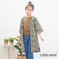 Little moni 花卉長版罩衫-黃色