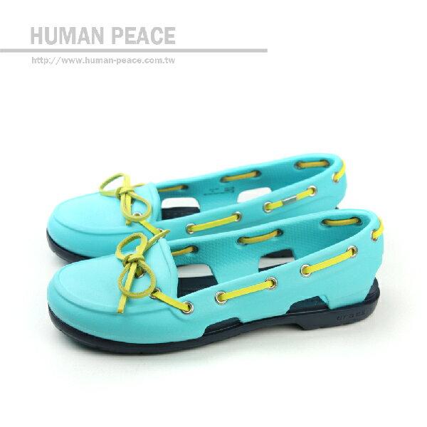 Crocs 帆船鞋 戶外休閒鞋 水藍 女款 no233