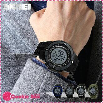 時刻美 SKMEI 簡約光動 手錶 時尚錶 流行錶 運動 50米 防水 大圓錶 電子錶 男錶 女錶 鬧鐘 *餅乾盒子*