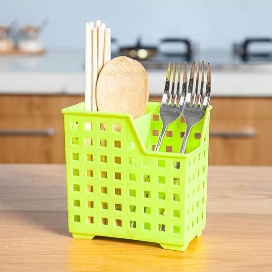 ♚MY COLOR♚多功能瀝水餐具籠 筷子 湯匙 筷筒 叉勺 收納 鏤空 衛生 通風 桌面【R80】