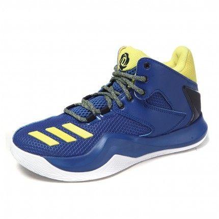 《限時特賣↘7折免運》ADIDAS D ROSE 773 V J 女鞋 童鞋 籃球 輕量 藍 黃 【運動世界】 B54117