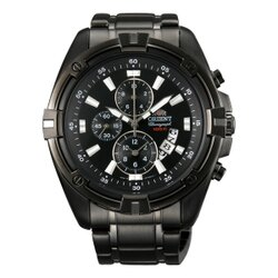 Orient 東方錶(FTT0Y001B)炫黑賽車計時腕錶/黑面49mm