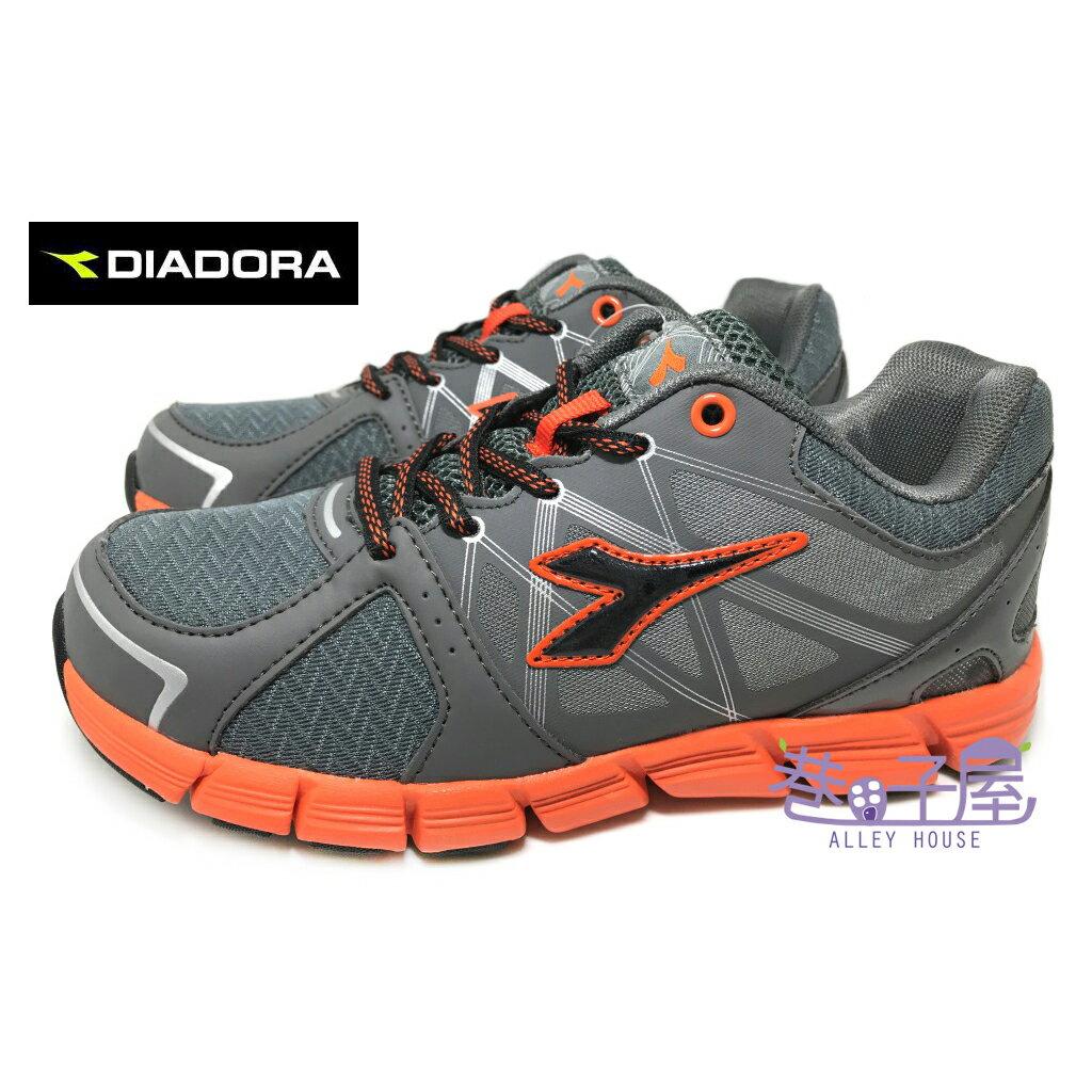 【巷子屋】義大利國寶鞋-DIADORA迪亞多納 男童瓢蟲飛輕量慢跑鞋 [2718] 深灰桔 超值價$498