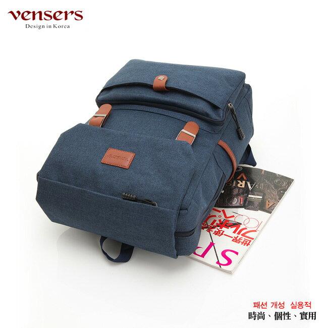 【vensers】簡約丹寧牛仔後背包(R00064101寶藍) 2