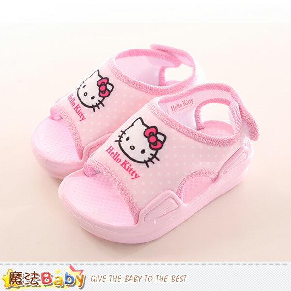 寶寶鞋 Hello kitty授權正版女童涼鞋 魔法Baby~sk0164