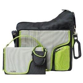 【淘氣寶寶】JJ Cole Collection Bag 媽媽包+尿布墊+奶嘴袋+吊環(4合一) (顏色:綠色)
