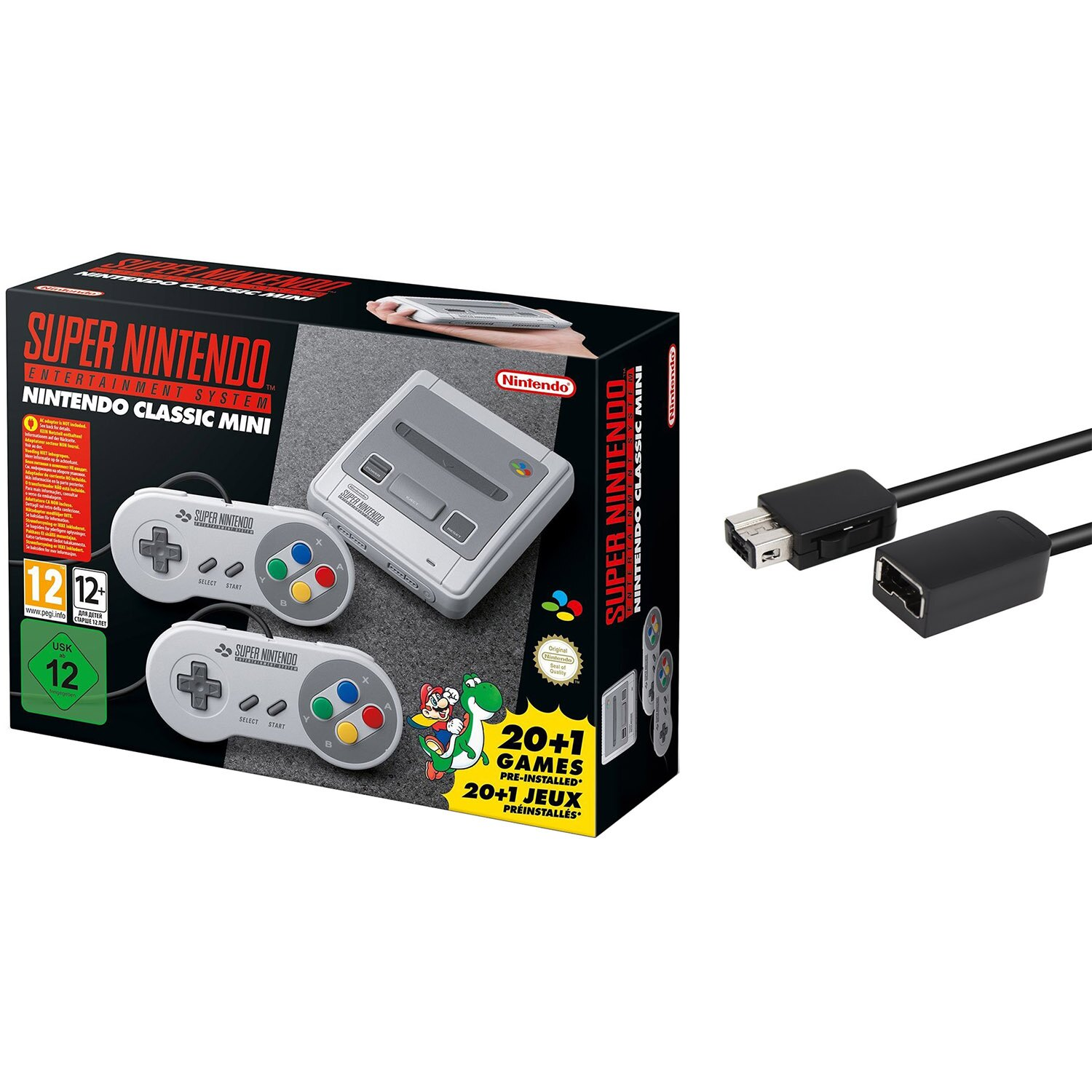 Super Nintendo Entertainment System SNES Classic Edition w/ 6ft. Extension Cable 0