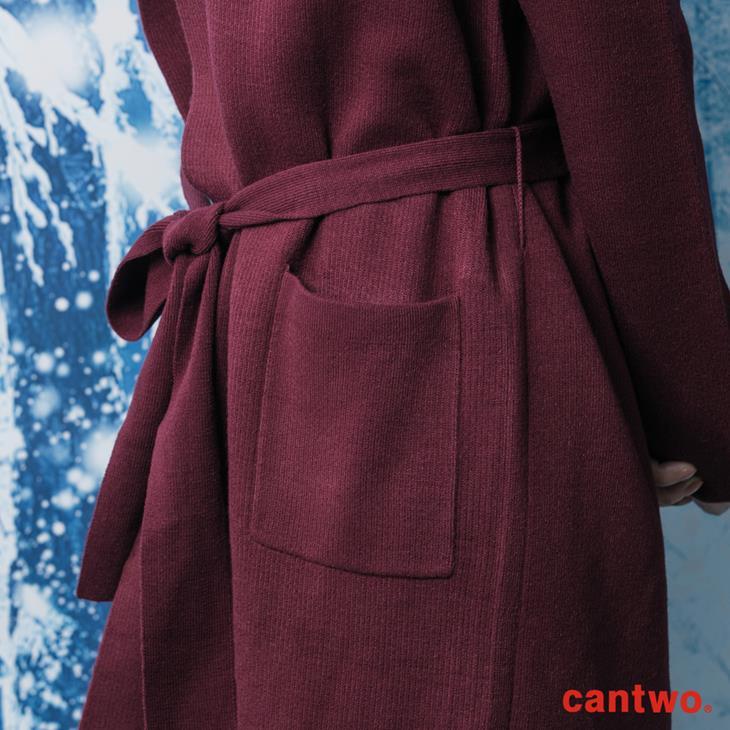 cantwo素色絲瓜領針織睡袍外套(共三色) 5