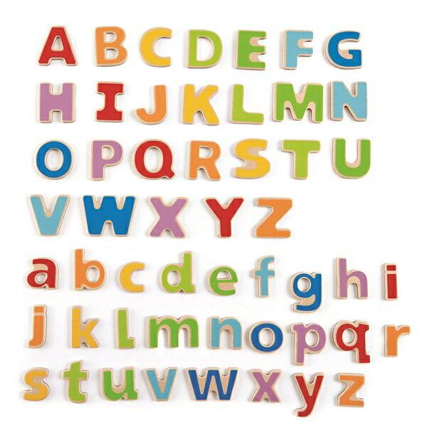 【免運費】《 德國 Hape 愛傑卡》ABC 磁鐵字母