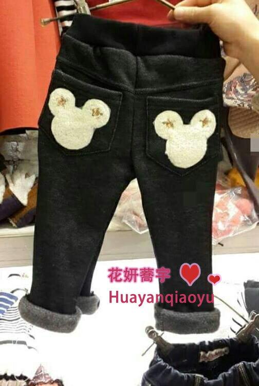 【花妍蕎宇】仿牛仔米奇口袋褲
