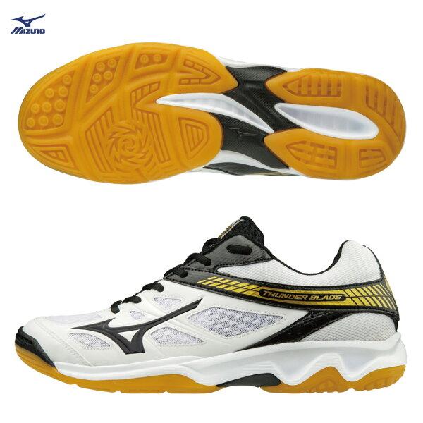 V1GA177009(白X黑)高CP值THUNDERBLADE排球鞋S【美津濃MIZUNO】