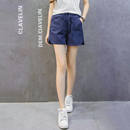 亞麻闊腿棉麻短褲(5色S~3XL)【OREAD】 0