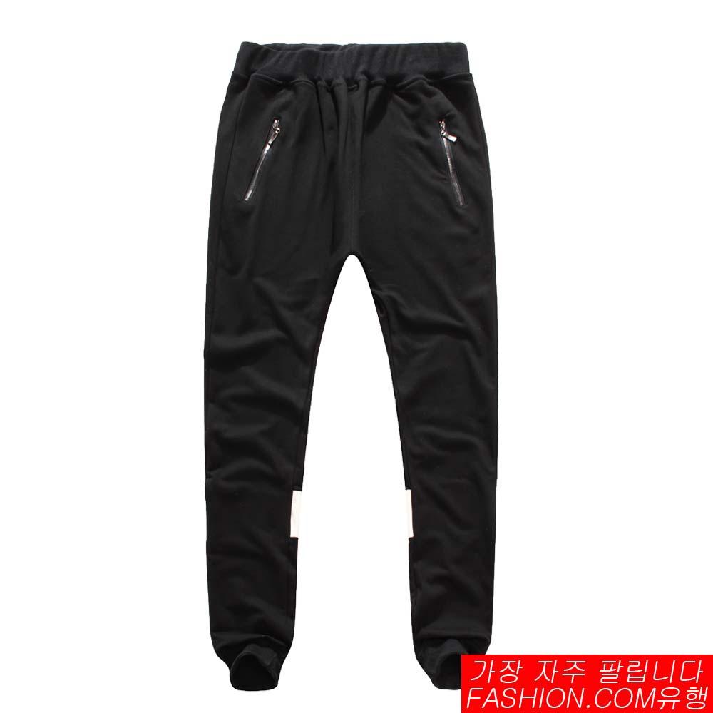 DITION 拉鍊背面反光皮革SPORT螺紋棉褲 4